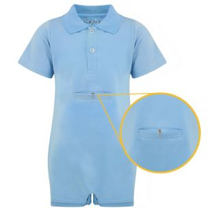 KayCey Super Soft Body Suit - Polo Shirt with Tube Access - Blue from